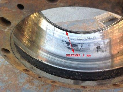 La pestaña del tambor de frenos